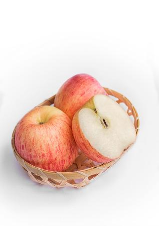 Fresh red apples