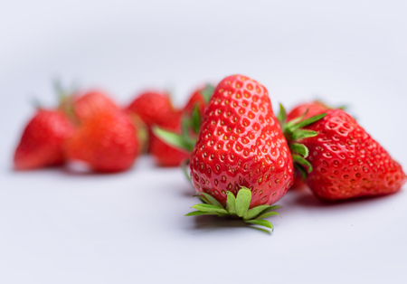 Red strawberry close-up
