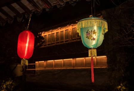 Festive lantern of China. Banco de Imagens