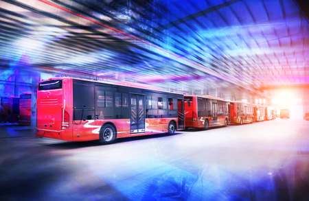 Pure electric buses in factories