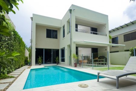 Luxury house with swimming pool photo