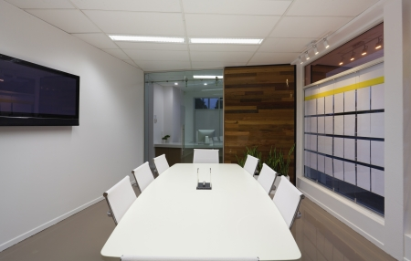 Small board room or meeting room in new office. photo