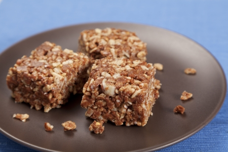 puffed: Gluten free peanut butter and puffed rice cakes