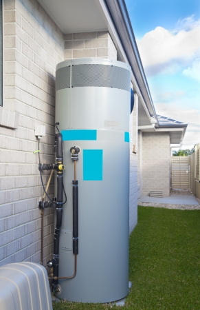 Hot water system in backyard Stock Photo - 16791407
