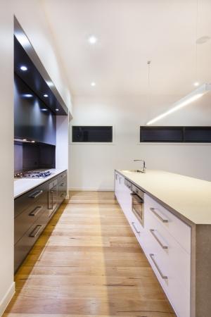 Modern kitchen interior in luxury house Stock Photo - 18432436