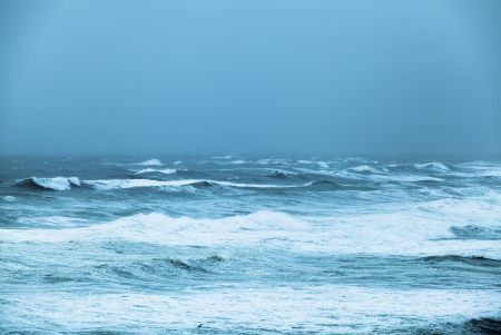 Angry ocean in cyclone Stock Photo - 18437804