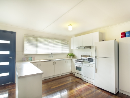 Classic kitchen with white goods photo