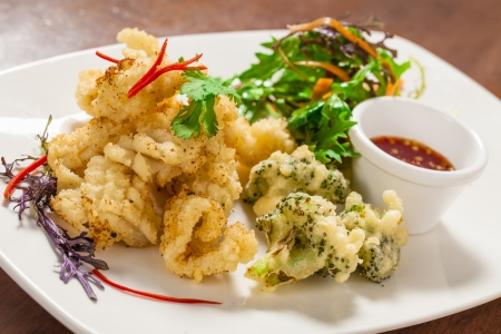 mouthwatering: Szechuan pepper squid with nahm jim sauce
