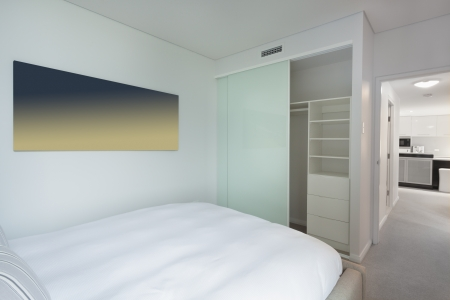 Stylish bedroom in new Australian apartment  Stock Photo - 18660687