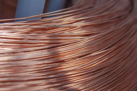 Copper wire spool in factory photo