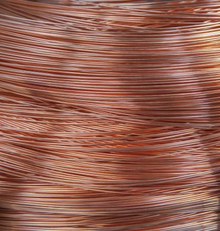 conductors: Copper wire spool in factory