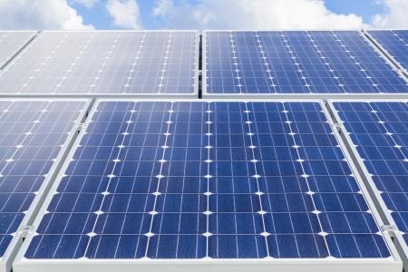 Solar panels on roof Standard-Bild