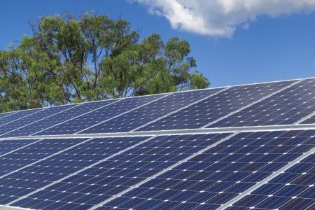 Solar panels on roof Stock Photo - 19378342