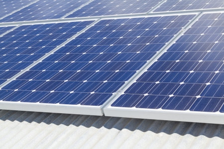 Solar panels on roof Stock Photo - 19476761