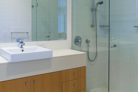 Modern bathroom in australian home photo
