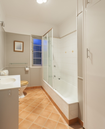 Small bathroom in Australian home photo