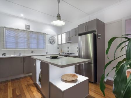 kitchen appliances: Small modern kitchen in Australian home