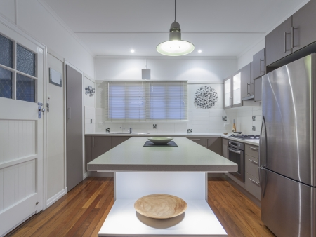 Small modern kitchen in Australian home photo