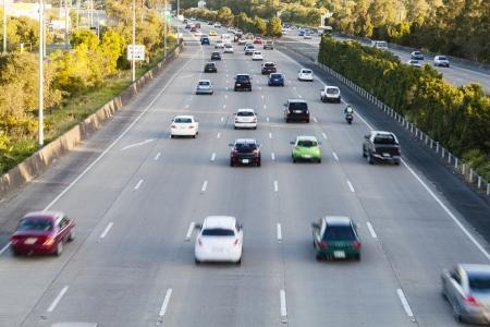 Busy australian highway at peak hour Standard-Bild