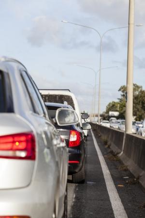 Besetzt australische Autobahn bei Hauptverkehrszeiten