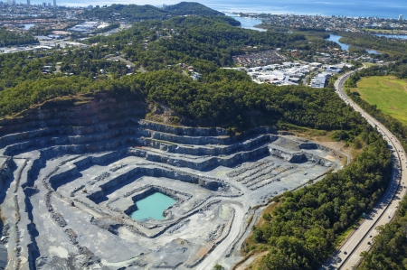 Open cut rock quarry Stock Photo - 20472857