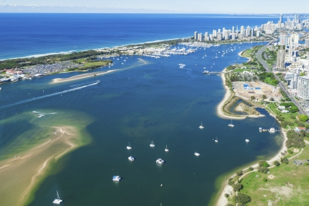 Aerial view of Gold Coast Broadwater, Queensland, Australia Stock Photo - 20412642