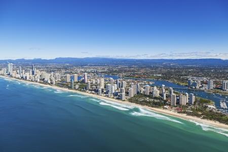 gold coast australia: Aerial view of Gold Coast, Queensland, Australia