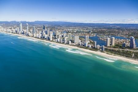 surfers paradise: Aerial view of Gold Coast, Queensland, Australia
