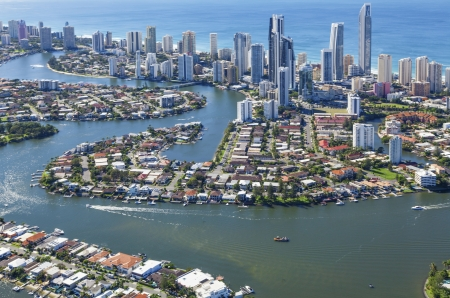 Aerial view of Surfers Paradise, Queensland, Australia Stock Photo
