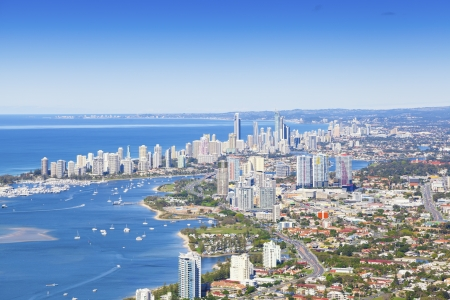 Aerial view of Gold Coast, Queensland, Australia photo