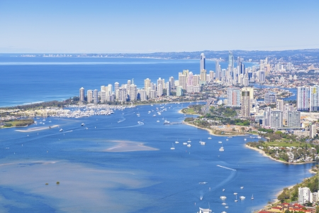 queensland: Aerial view of Gold Coast, Queensland, Australia
