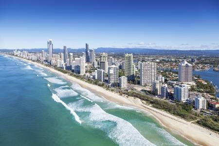Vue aérienne de la Gold Coast, Queensland, Australie Banque d'images - 20412722