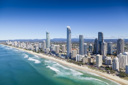australia: Aerial view of Gold Coast, Queensland, Australia