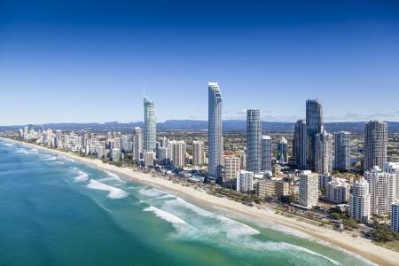 Luchtfoto van Gold Coast, Queensland, Australië