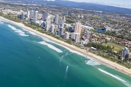 gold coast australia: Aerial view of  Broadbeach on the Gold Coast, Queensland Australia