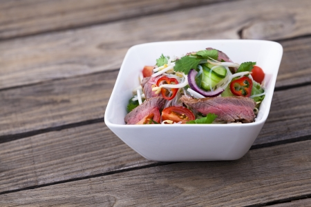 vermicelli: Thai beef salad with vermicelli noodles
