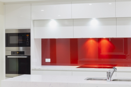 oven and range: New modern minimalistic kitchen