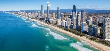 Sunny view of Gold Coast, Queensland, Australia