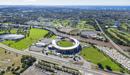 Aerial view of Metricon Stadium on June 16, 2013 on Gold Coast, Australia