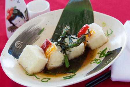 doufu: Japanese tofu in broth