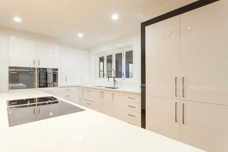 New ultra modern kitchen in stylish house