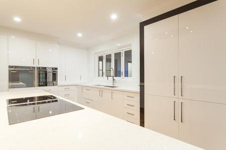 New ultra modern kitchen in stylish house photo