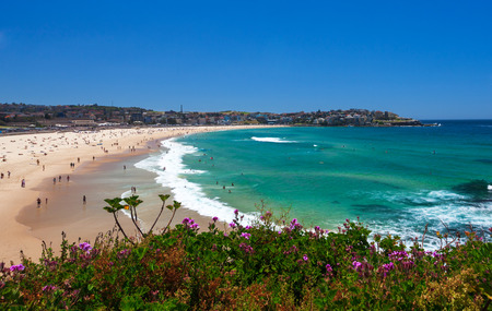 Amazing day on Bondi Beach in Sydney, Australia Banque d'images