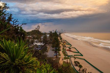 gold coast australia: Storm passes over Surfers Paradise on the Gold Coast, Australia