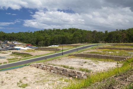 new development: New land development by an Australian forest Stock Photo