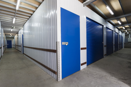 Warehouse with private storage sheds Stok Fotoğraf - 36454975