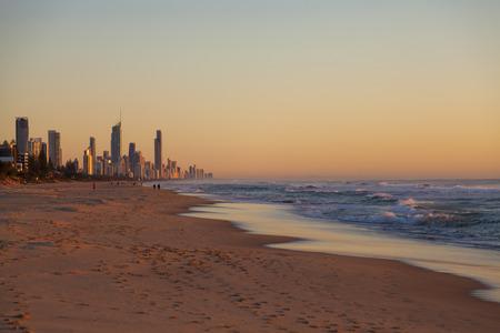 gold coast: Sunrise over Queenslands Gold Coast in Australia Stock Photo