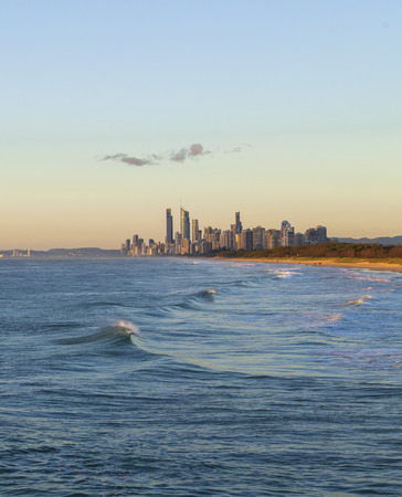gold coast: Golden sunrise over the Gold Coast in Queensland Australia