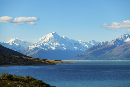 mount: Aoraki Mount Cook on New Zealands South Jsland Stock Photo