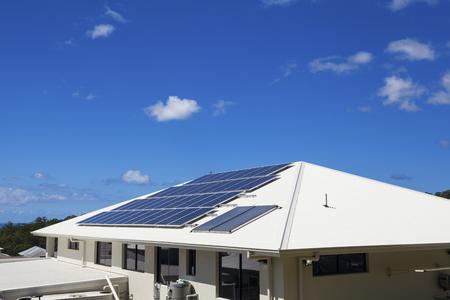 suburban: Solar panels on suburban home